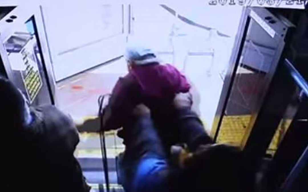 VIDEO: Police release footage of elderly man being shoved off city bus; passenger now facing murder charge,…
