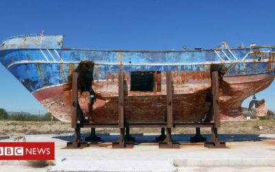 Is exhibiting tragic migrant ship distasteful or art?