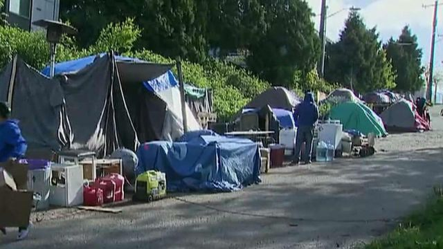 Tucker gets an up close look at Seattle's tent cities