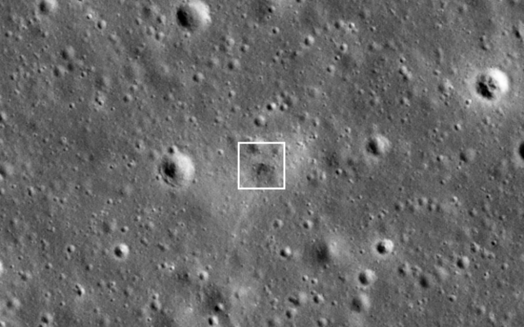NASA releases pictures of Beresheet moon crash site – The Times of Israel