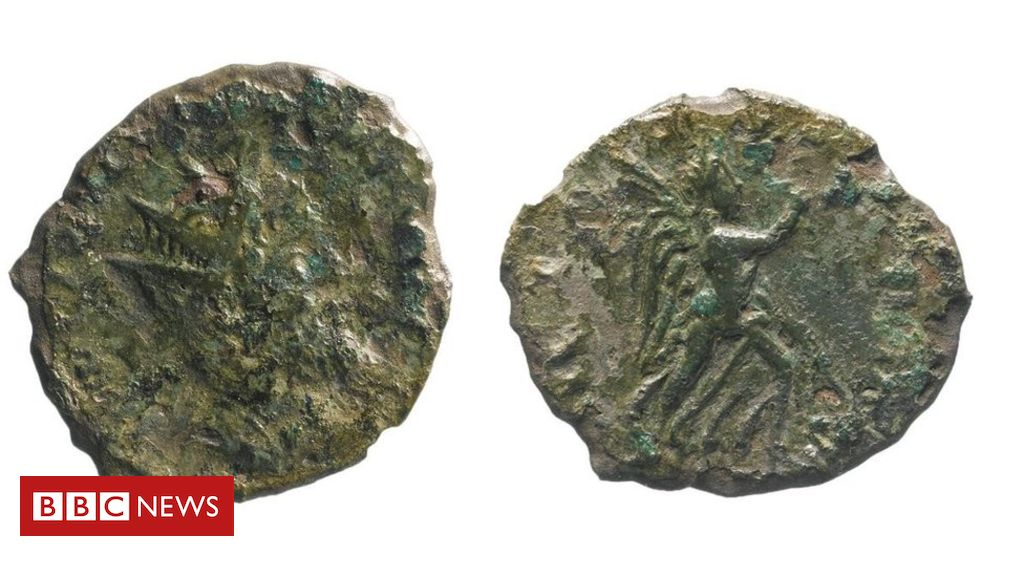 'Rare' Roman coin found during roadworks