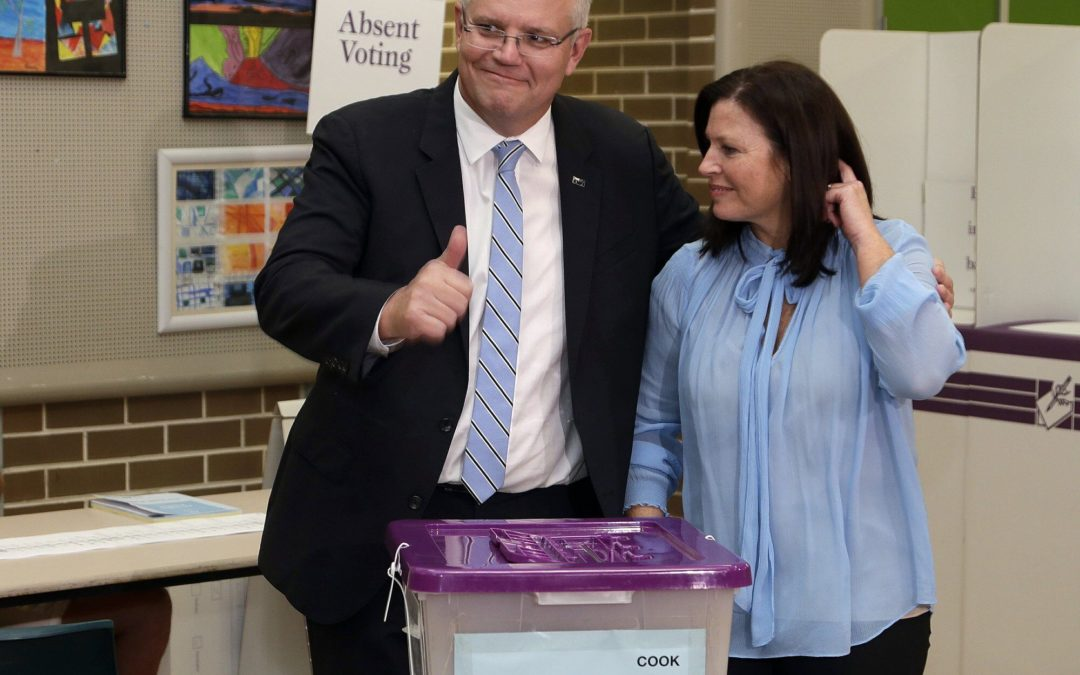 Australia's conservative coalition scores stunning political victory in general election, defies polls fore…