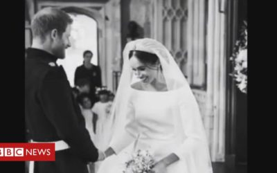 Harry and Meghan share unseen wedding snaps