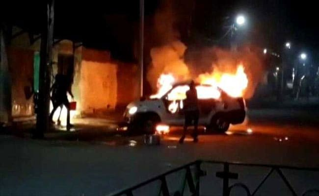 Cars Set Ablaze, Bombs Hurled In Bengal's Bhatpara Day Before Polls