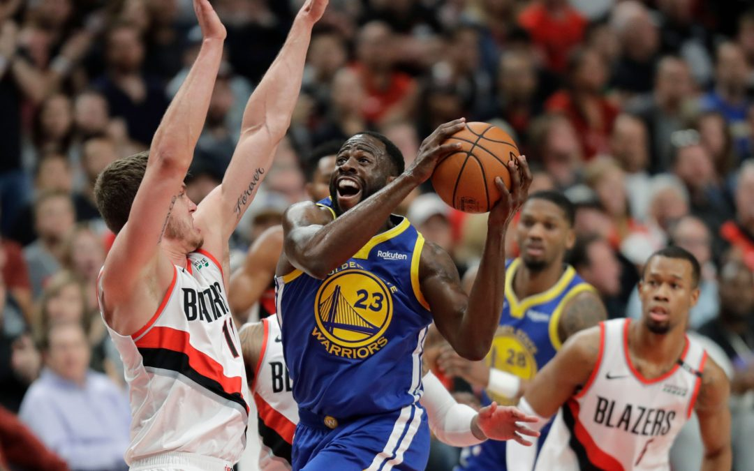 NBA playoffs: Warriors rally to beat Blazers in Game 3 – Yahoo Sports