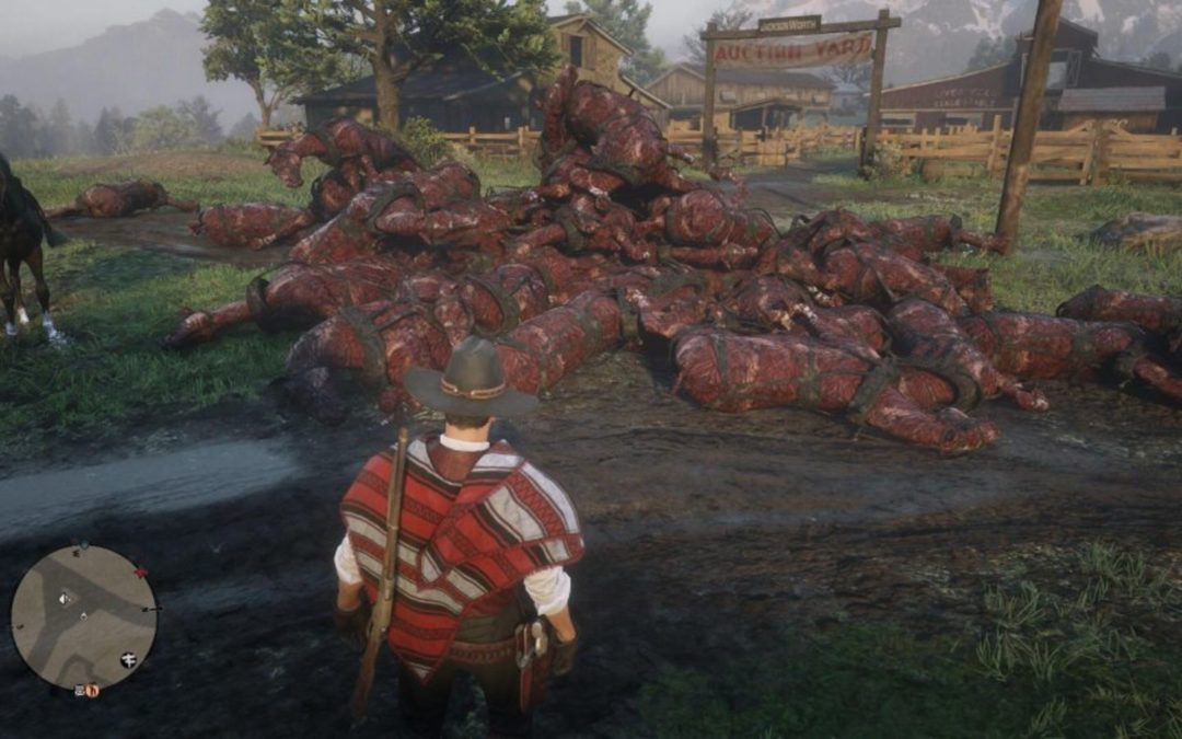 Red Dead Online Is Filled With Massive Piles Of Dead And Burned Horses – Kotaku