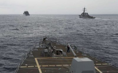 US Navy ship sails past Chinese-claimed reef in South China Sea – ABC News