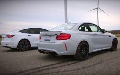 Video: BMW M2 Competition vs Tesla Model 3 Drag Race – BMWBLOG
