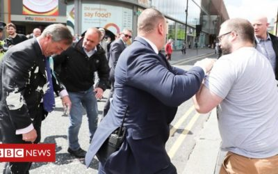 Nigel Farage: Milkshake thrown at Brexit Party leader – BBC News
