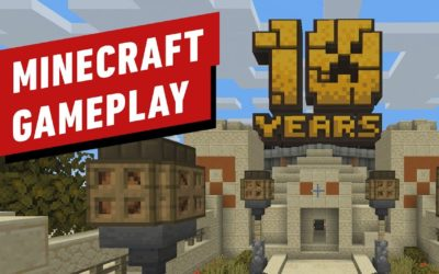 Minecraft 10 Year Anniversary Map Exploration Gameplay – IGN