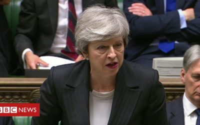 May urges MPs to back her Brexit plan