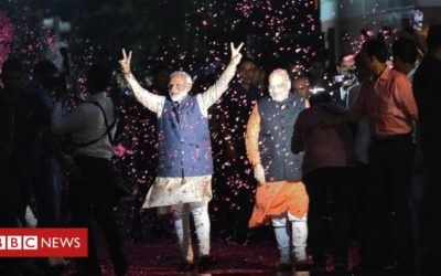 Modi thanks India for 'historic mandate'