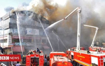 India college fire kills at least 17 students