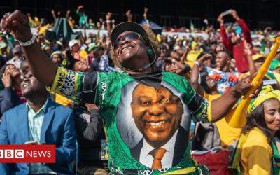 S Africa's Ramaphosa sworn in