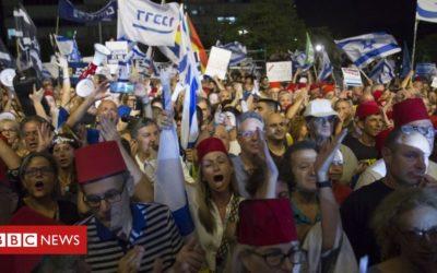 Israelis protest Netanyahu immunity move