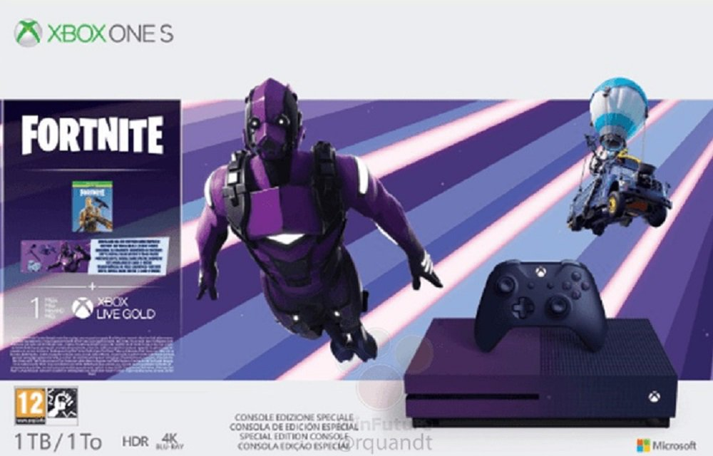 New Fortnite-themed purple Xbox One surfaces online – Destructoid