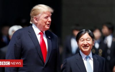 Trump is first leader to meet Japan's new emperor