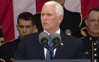 Vice President Pence speaks at Memorial Day ceremony