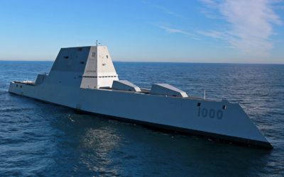 All 3 Navy Zumwalts now 'in the water' – how can a destroyer be stealthy?