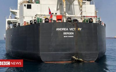 Tankers almost certainly hit by Iranian mines – US