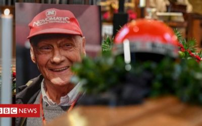 Niki Lauda: F1 stars attend Mass for racing legend