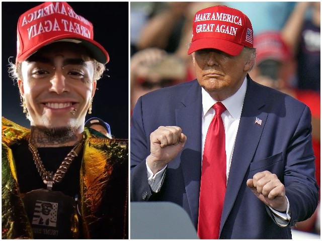 Rapper Lil Pump Attends Trump Rally in Miami After Endorsing President