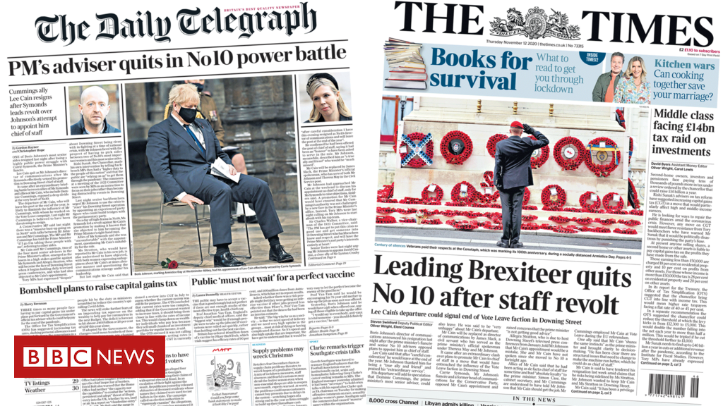 The Papers: 'Power struggles at No 10' and vaccine safety vow