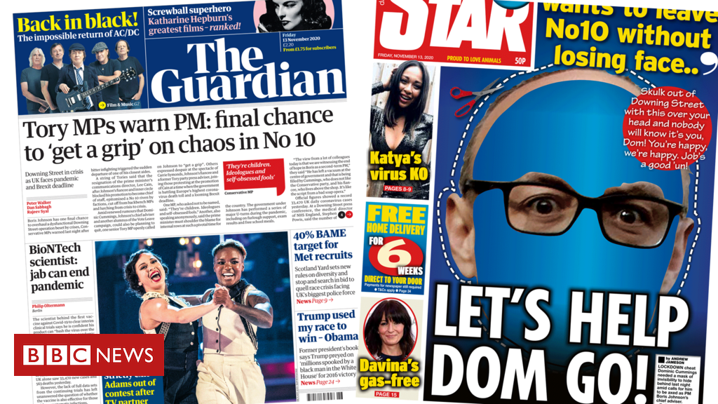 The Papers: Final chance for PM 'to get grip' and 'Dom's free mask'