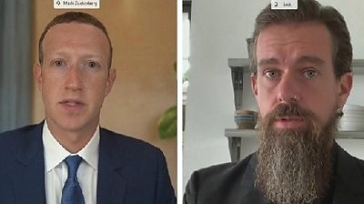 Facebook's Zuckerberg and Twitter's Dorsey answer addiction question
