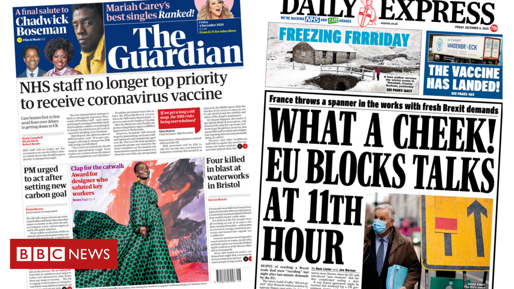 The Papers: Vaccine priorities and Brexit deal block