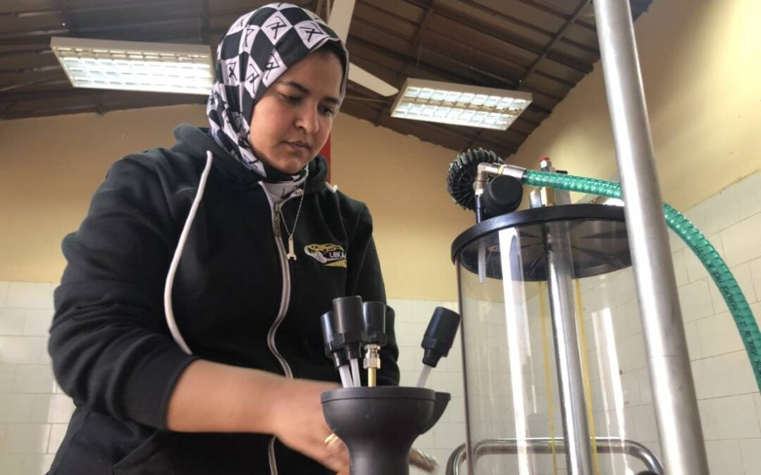 Trailblazing woman mechanic changes wheels, oil, stereotypes in Egypt...