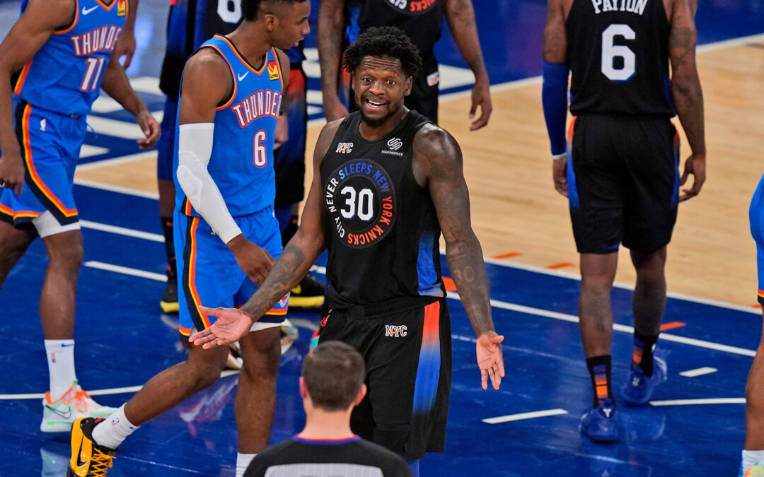 Awful shooting ends Knicks' win streak in loss to Thunder
