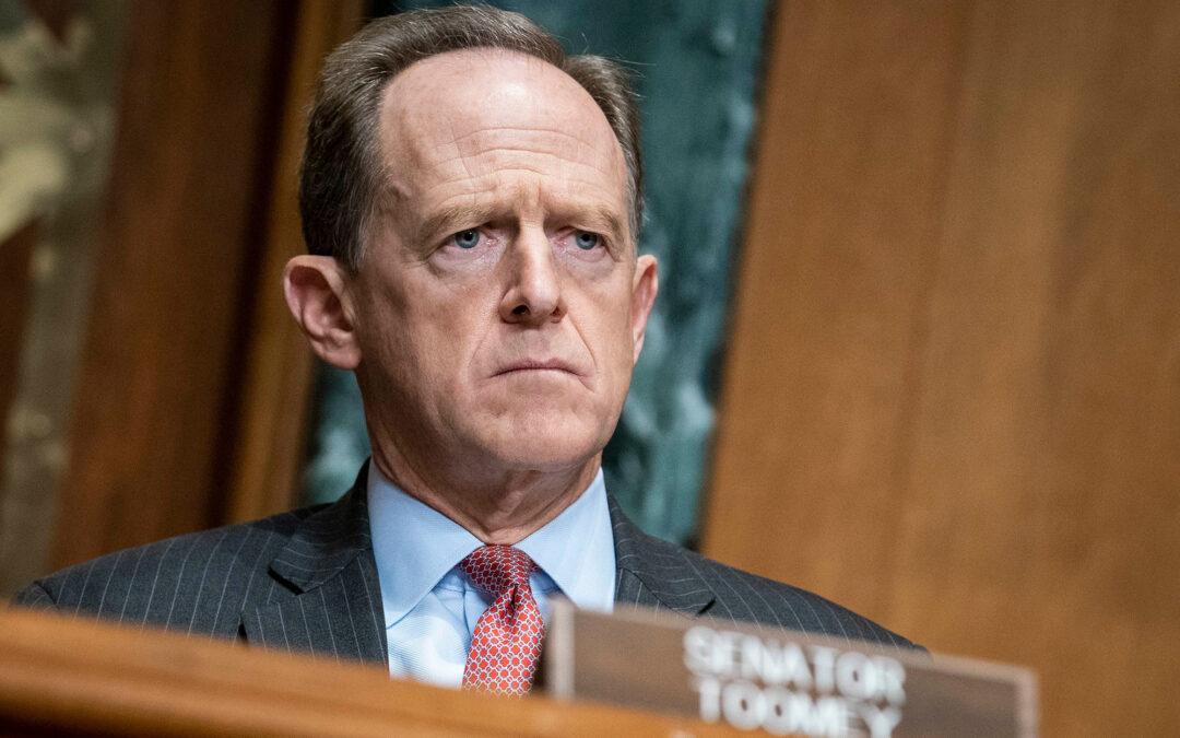 GOP Sen. Pat Toomey says Trump should resign, questions impeachment timing