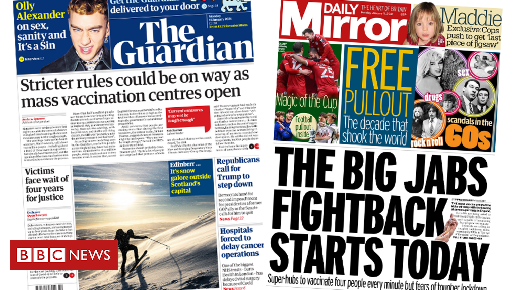 The papers: 'Stricter rules' and vaccination 'fightback'