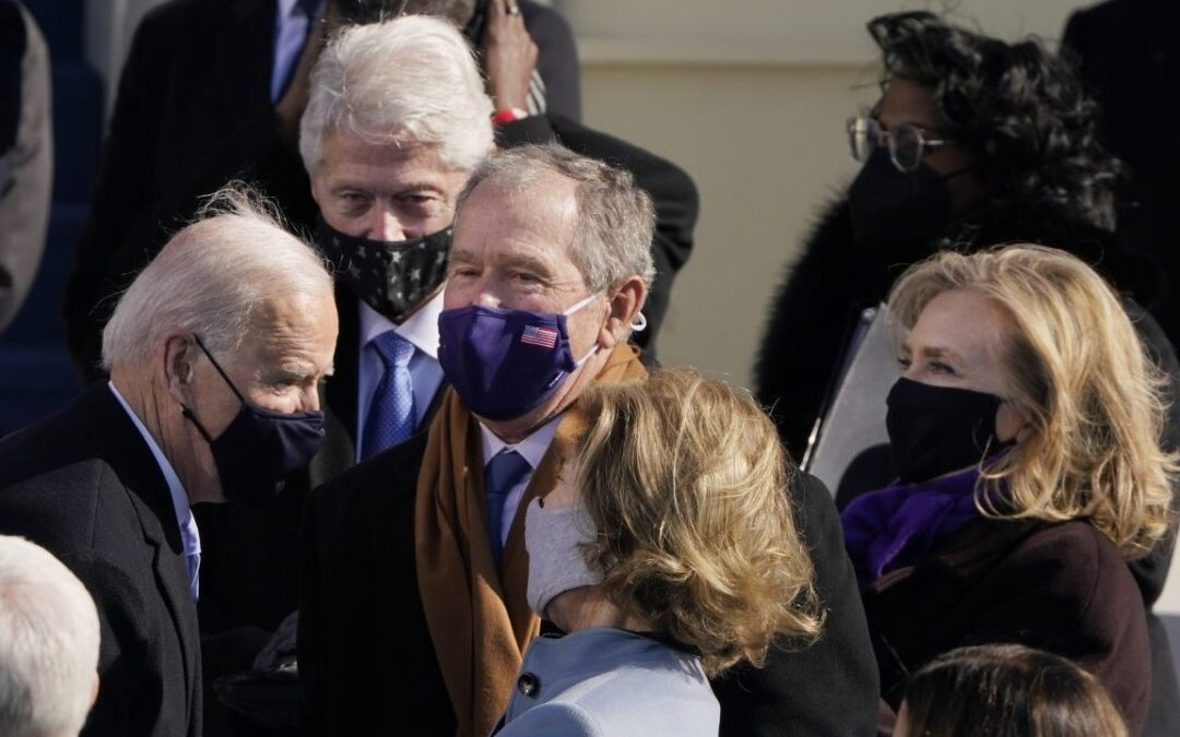 Obama, Bush and Clinton say inauguration highlights 'institutional integrity' of USA, ask for national unity