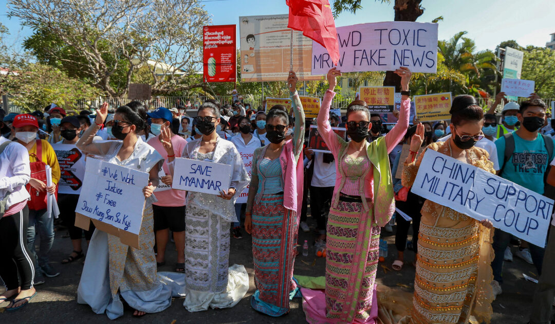 Myanmar protesters urge China to condemn coup, will Beijing act?