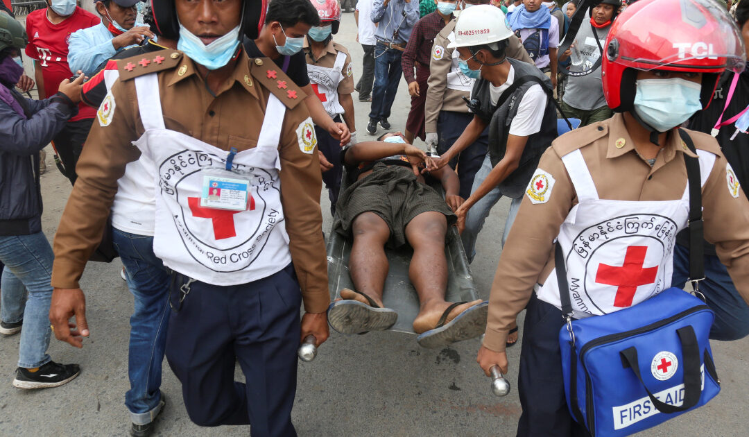 Myanmar police kill 2 in bloodiest day of anti-coup protests