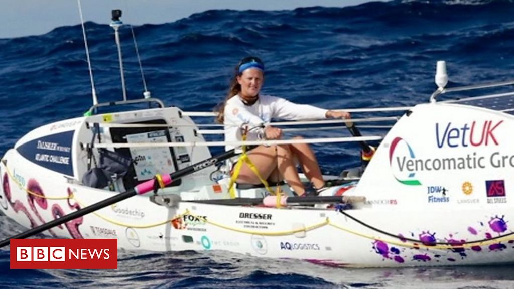 Swimming teacher is youngest woman to row Atlantic