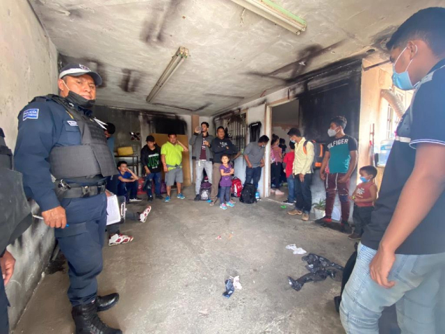 EXCLUSIVE VIDEO: Mexican Cops Raid Human Smuggling Stash House in Border State