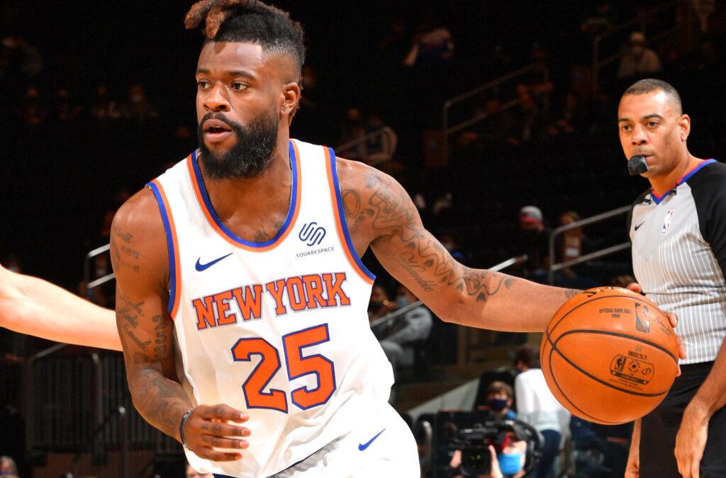 Knicks' Reggie Bullock dominates against Pistons