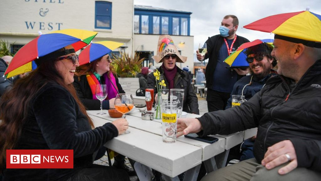 Covid lockdown eases: Celebrations as pub gardens and shops reopen