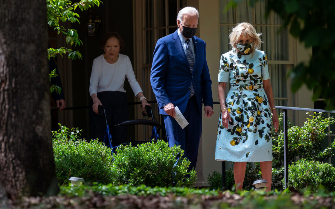 Bidens meet with Carters as White House denies Jimmy health concern