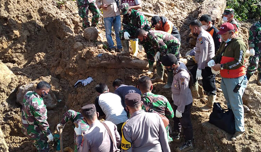 At least three killed in landslides on Indonesia's Sumatra island
