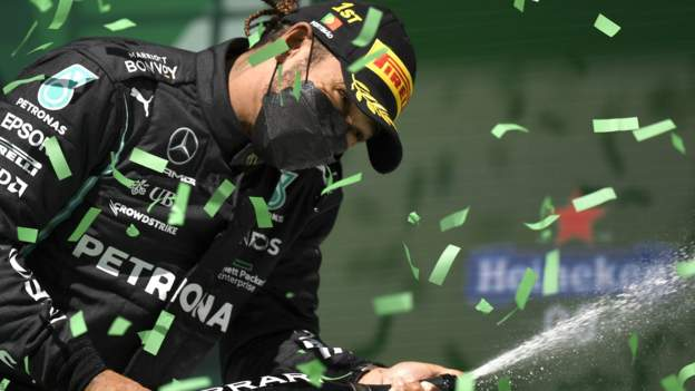 Lewis Hamilton wins Portuguese Grand Prix after spectacular overtakes