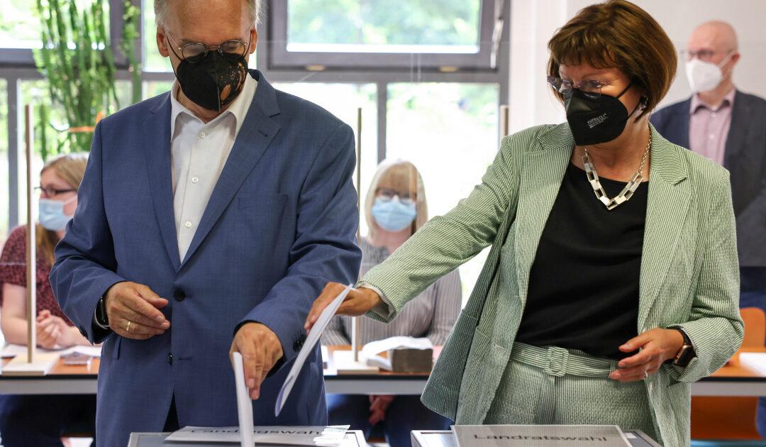 Merkel's party wins key state vote: Exit poll