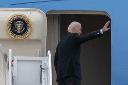 Biden Heads Overseas as His Prospects Darken at Home