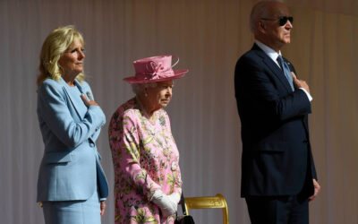 Biden accused of violating royal protocol during visit with the Queen
