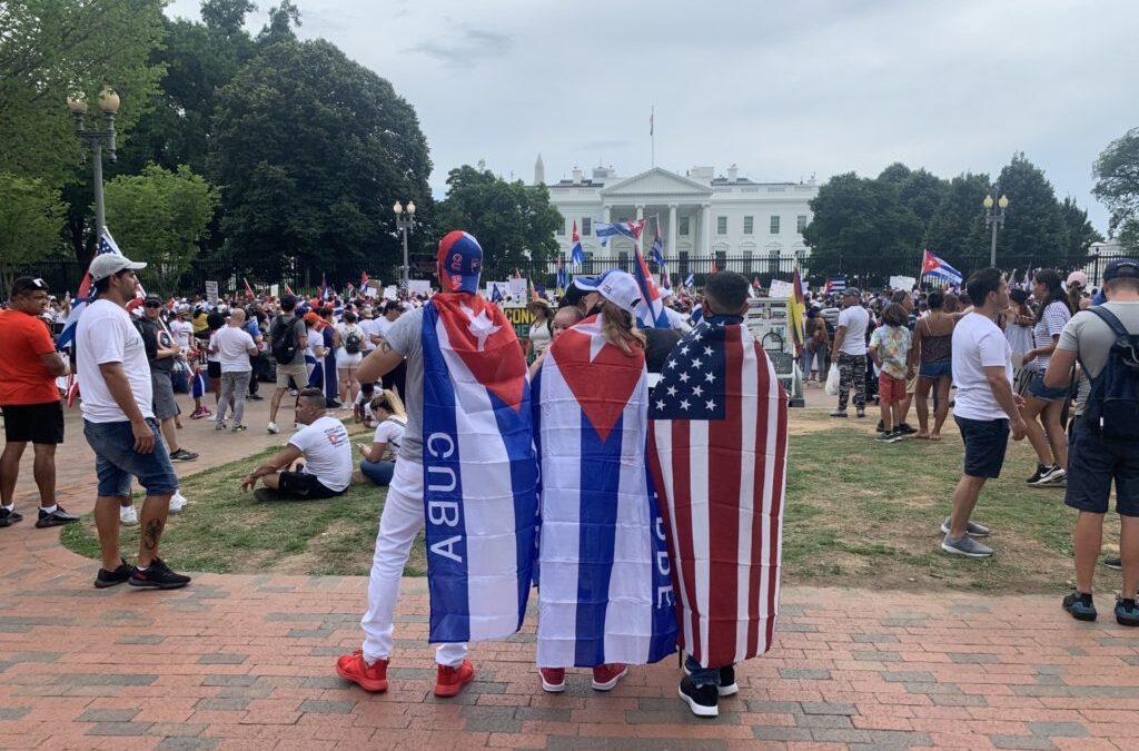 Watch Live: Hundreds Demand Freedom for Cuba Outside White House