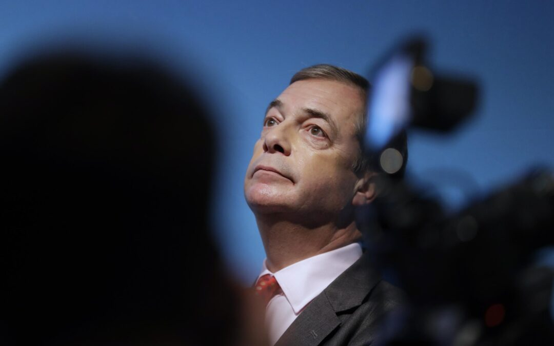 Struggling channel GBNEWS hires Farage to host show...