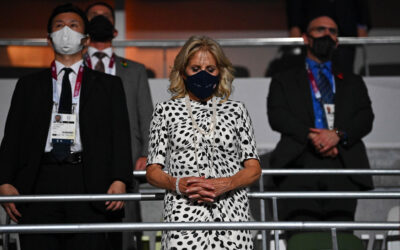 Jill Biden masks up with world leaders at Tokyo Olympics opening ceremony